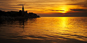 Croatia Posters - Porec sunset Poster by Davorin Mance