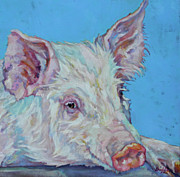Smile Painting Framed Prints - Pork Chop Framed Print by Patricia A Griffin
