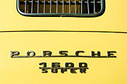 Porsche 1600 Super Rear Emblem Print by Jill Reger