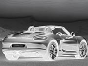 Porsche 2 Print by Cheryl Young