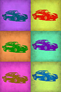 Classic Cars Digital Art Framed Prints - Porsche 911 Pop Art 2 Framed Print by Irina  March