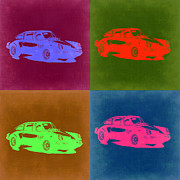 Classic Cars Digital Art Framed Prints - Porsche 911 Pop Art 3 Framed Print by Irina  March