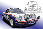 Classic Porsche 911 Photos - Porsche 911 SCRS Group B Rally Car by Tad Gage