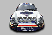 Classic Porsche 911 Photos - Porsche 911 SCRS Rally Car by Tad Gage