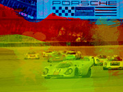 German Classic Cars Prints - Porsche 917 Racing Print by Irina  March