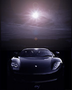 Curt Johnson Art - Porsche Carrera GT Planetary Alignment by Curt Johnson