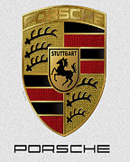 Expensive Photos - Porsche Emblem by Cheryl Young