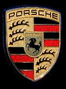 Mary Deal Prints - Porsche Emblem Print by Mary Deal