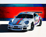 Gt3 Prints - Porsche GT3 Martini Print by Stuart Row