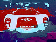 German Classic Cars Prints - Porsche Le Mans Racing Print by Irina  March