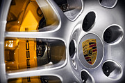 Sports Art Digital Art Posters - Porsche Wheel Poster by Gordon Dean II