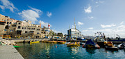 Jaffa Photos - Port at Jaffa by David Morefield