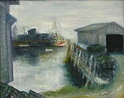 Port Clyde Originals - Port Clyde in Fog by Michael Anthony Edwards