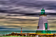 Storm Prints Digital Art Posters - Port Dalhousie Lighthouse Poster by Jerry Fornarotto