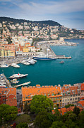 Azur Framed Prints - Port du Nice Framed Print by Inge Johnsson