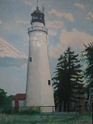 Port Drawings - Port Gratiot Lighthouse by Matthew Handy