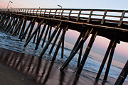 Exciting Surf Framed Prints - Port Hueneme Pier Askew Framed Print by John Daly