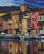 Port Tapestries - Textiles - Port of Cassis II by Lenore Crawford