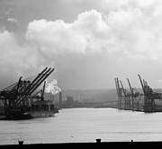 Black Photographs Prints - Port of Tacoma Print by Torkomian Photography