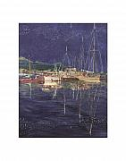 Moored Paintings - Port Orchard WA Stary Stary Night by Jack Pumphrey