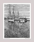 Reflections Of Port Orchard Washington Print by Jack Pumphrey