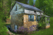 Stone House Digital Art Prints - Port Royal Country Print by Sharon Batdorf