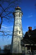 Port Sanilac Lighthouse Print by Kathy DesJardins
