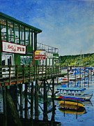 Restaurant Signs Paintings - Port Side Pub by Stephen Abbott