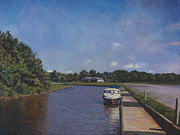 County Paintings - Port Tobacco Marina by David P Zippi