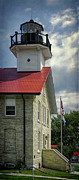 Red Roof Photo Posters - Port Washington Light Station Poster by Joan Carroll
