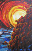 The Heavens Painting Originals - Portal by Erma Clarkson