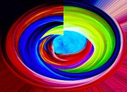 Portal In Space Abstract Art Print by Annie Zeno