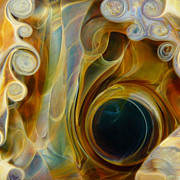 Surrealism Glass Art Prints - Portal Print by Jubilant Glass And Art