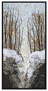 Winter Trees Tapestries - Textiles - Portal by Lorraine Roy