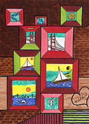 San Francisco Bay Drawings Prints - Portal to San Francisco Print by Michael Friend