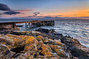 Scottish Art - Portencross and Arran by John Farnan