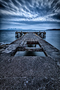 Scotland Fineart Framed Prints - Portencross Pier  Framed Print by John Farnan