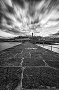 Cornwall Prints - Porthleven Pier portrait  Print by John Farnan