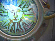 Serene Art - Porthole to the Secret Garden by Amber Nissen