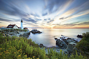 Maine Shore Prints - Portland Head Daybreak Print by Eric Gendron