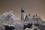 Maine Lighthouses Photo Prints - Portland Head Light 2 Print by Joann Vitali