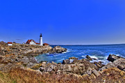 Maine Lighthouses Framed Prints - Portland Head Light 4 Framed Print by Joann Vitali