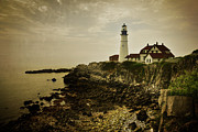 Maine Shore Framed Prints - Portland Head Light II Framed Print by Joan Carroll