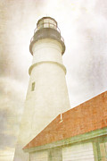 Watercolor! Art Photo Prints - Portland Head Lighthouse Maine Print by Carol Leigh