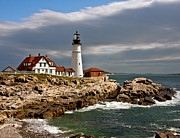 John Haldane Prints - Portland Headlight Print by John Haldane