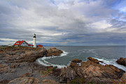 Safe Haven Prints - Portland Lighthouse Wide Angle Print by Jack Nevitt