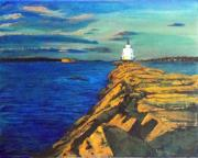 Maine Paintings - Portland Maine Harbor by William Tremble