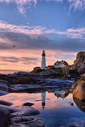 Portland Lighthouse Framed Prints - Portland Of My Dreams Framed Print by Emily Stauring