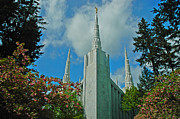 Angel Moroni Prints - Portland Oregon LDS Temple Print by Nick  Boren