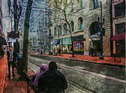 Towns Digital Art - Portland Oregon by W i L L Alexander